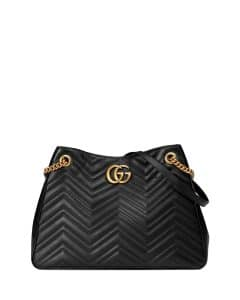 Gucci Black GG Marmont Matelasse Shoulder Bag