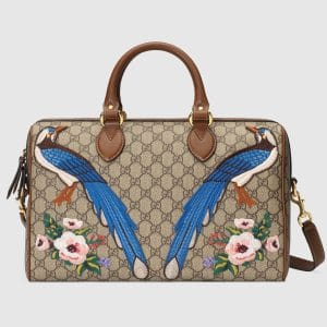 Gucci Embroidered Exclusive GG Supreme Top Handle Bag