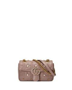 Gucci Nude GG Marmont Pearly Matelasse Mini Bag