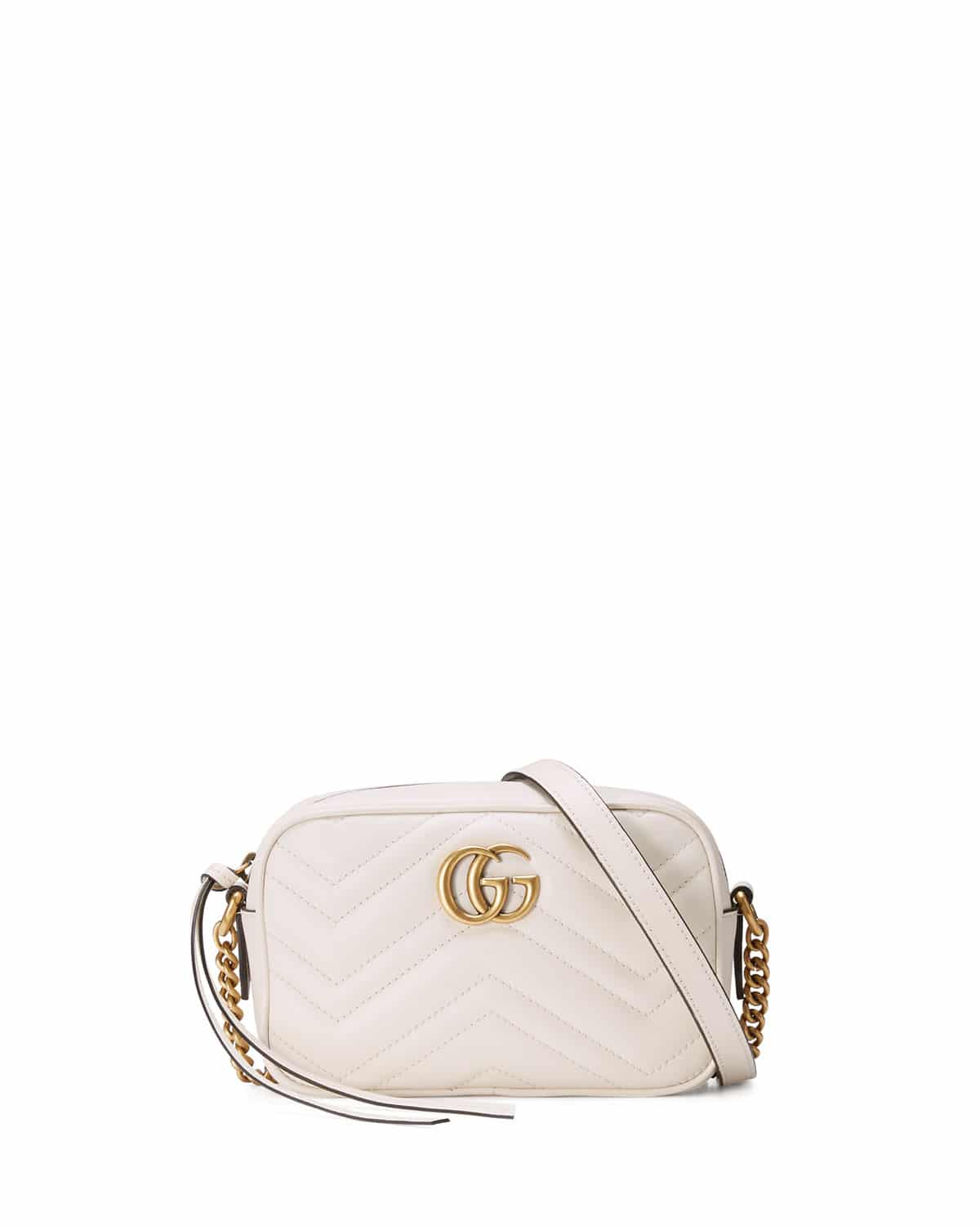 6003a94589a Gucci White GG Marmont Mini Matelasse Camera Bag
