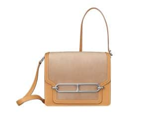 Hermes Biscuit/Straw/Curry Roulis 23 Bag