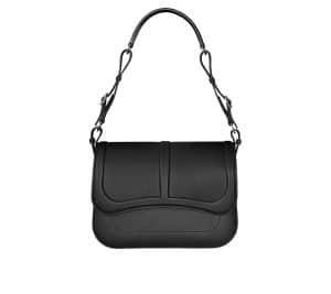 Hermes Black Epsom/Swift Calfskin Harnais Bag