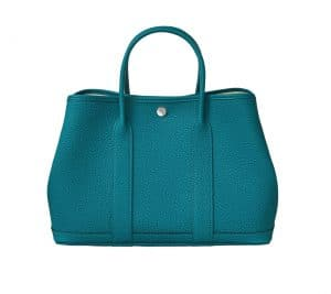 Hermes Cobalt Negonda Calfskin Garden Party 30 Bag