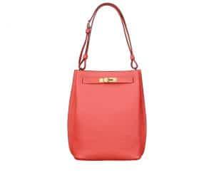 Hermes Peony Red So-Kelly 22 Bag