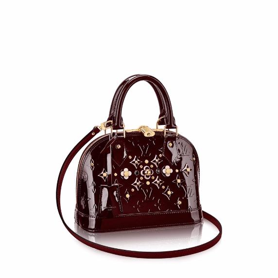 Louis Vuitton Amarante Monogram Vernis Alma Flower Bag