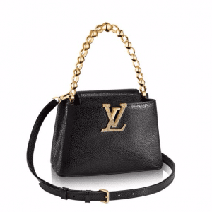 Louis Vuitton Black Capucines Mini Chain Bag