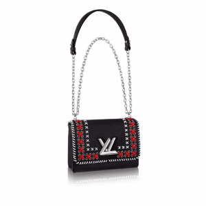 Louis Vuitton Black Embroidered Epi Twist MM Bag