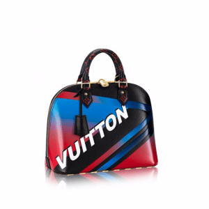 Louis Vuitton Black Multicolor Race Print Alma PM Bag