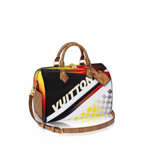 Louis Vuitton Black Multicolor Race Print Speedy Bandouliere 30 Bag