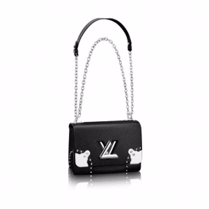Louis Vuitton Black Studded Epi Twist MM Bag