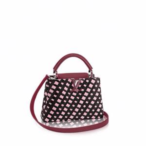 Louis Vuitton Bordeaux Plaited Leather Capucines BB Bag