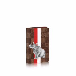 Louis Vuitton Damier Ebene with Rhinoceros Pocket Organizer