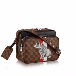Louis Vuitton Damier Ebene with Rhinoceros Print Nil PM Bag