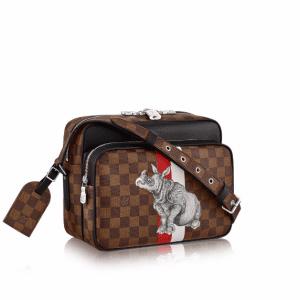 Louis Vuitton Damier Ebene with Rhinoceros Print Nil PM Bag