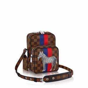 Louis Vuitton Damier Ebene with Zebra Print Amazone 22 Bag