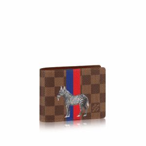 Louis Vuitton Damier Ebene with Zebra Print Multiple Wallet