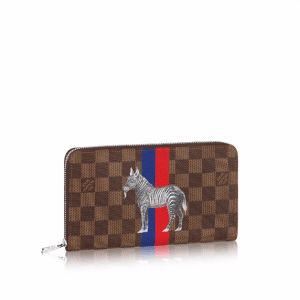 Louis Vuitton Damier Ebene with Zebra Print Zippy Organizer