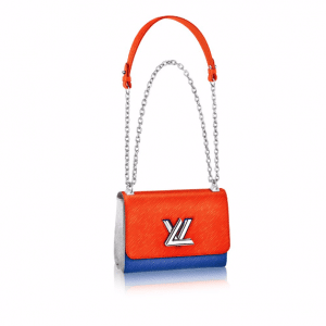 Louis Vuitton Marine Orange Epi Twist MM Bag