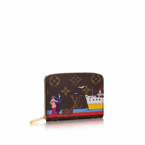 Louis Vuitton Monogram Canvas Transatlantic Cruises Print Zippy Coin Purse