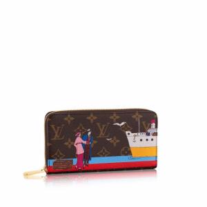 Louis Vuitton Monogram Canvas Transatlantic Cruises Print Zippy Wallet