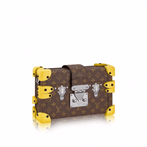 Louis Vuitton Monogram Canvas with Yellow Silicon Corners Petite Malle Bag