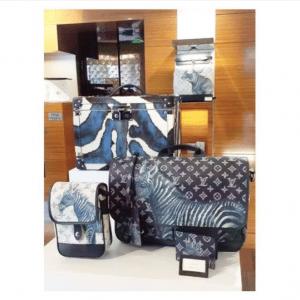 Louis Vuitton Monogram Savane Ink and Monogram Savane Dune with Zebra Print Messenger Bags