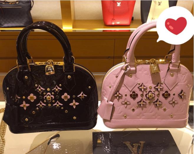 Louis Vuitton Monogram Vernis Alma Flower Bags