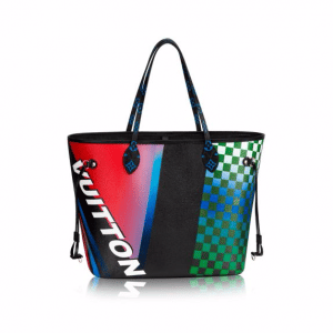 Louis Vuitton Multicolor Race Print Neverfull Bag