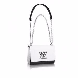 Louis Vuitton Noir Blanc Epi Twist MM Bag