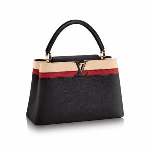Louis Vuitton Noir Capucines MM Bag