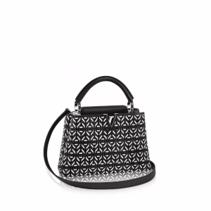 Louis Vuitton Noir Plaited Leather Capucines BB Bag