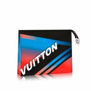 Louis Vuitton Noir Rose Race Print Travel Pouch Bag
