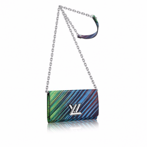 Louis Vuitton Vert Multicolor Epi Tropical Twist Chain Wallet
