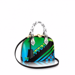 Louis Vuitton Vert Multicolor Race Print Alma BB Bag