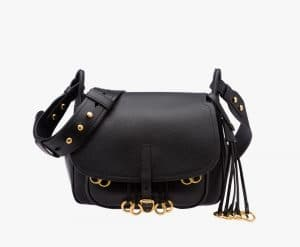 Prada Black Calf Leather Corsaire Bag