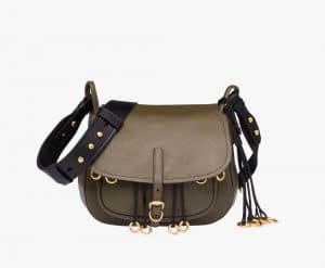 Prada Military Green/Black Calf Leather Corsaire Bag