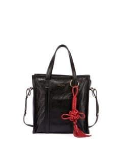 Balenciaga Black/Red Bazar Chinese New Year Small Tote Bag