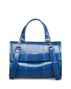 Balenciaga Blue Python Tool Small Satchel Bag