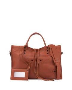 Balenciaga Brown Blackout City Bag