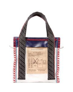 Balenciaga Multicolor Scaffold Leather Tote Bag