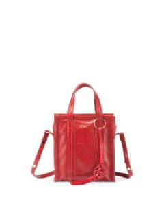 Balenciaga Red Bazar Chinese New Year Extra-Small Tote Bag