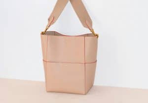 Celine Beige Smooth Calfskin Sangle Shoulder Bag