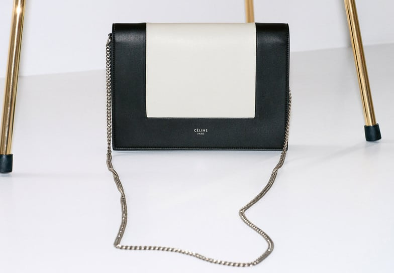 cd25371f9ace6 Celine Black White Frame Evening Clutch On Chain Bag · Celine Terracotta  Small Trotteur Shoulder Bag