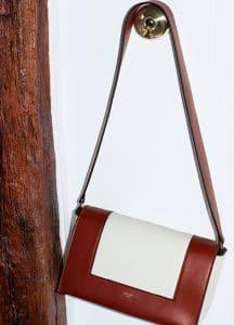 Celine Burnt Red and White Medium Frame Shoulder Bag