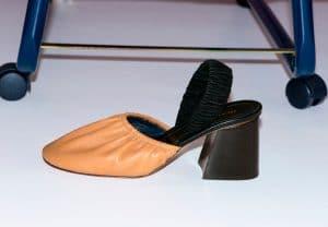 Celine Camel Soft Ballerina Slingback Pump