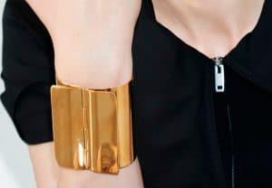 Celine Gold Brass Classic Cuff