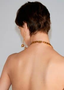 Celine Gold Brass Squares Necklace