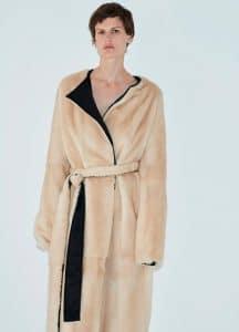 Celine Natural Mink Reversible Coat