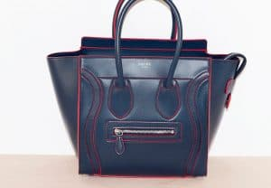 Celine Navy Blue Micro Debossed Luggage Bag