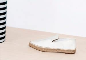 Celine Optic White Espadrille Pointy Slipper